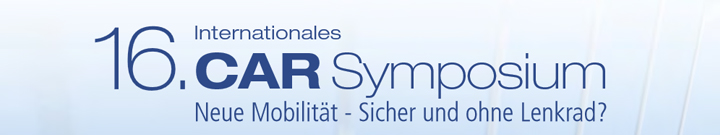 16th International CAR Symposium Bochum