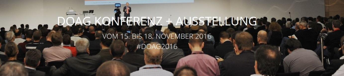 DOAG Konferenz und Ausstellung in Nürnberg 2016