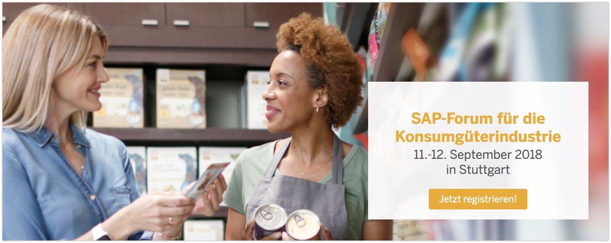 SAP-Forum für die Konsumgüterindustrie