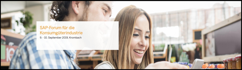 SAP-Forum für die Konsumgüterindustrie 2019