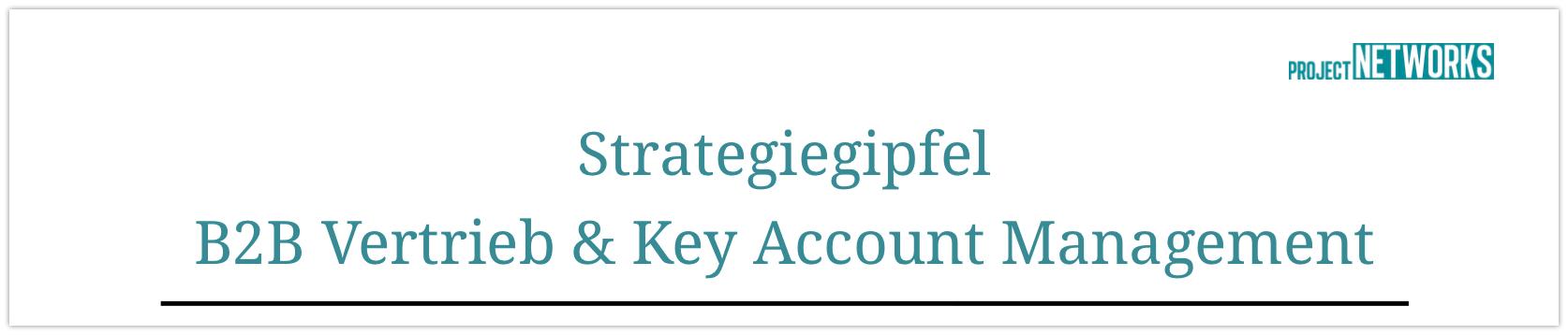 Strategiegipfel B2B Vertrieb und Key Account Management