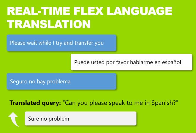 Multi language chat