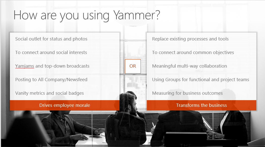 Don't just enjoy Yammer, exploit it